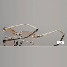 c44144d19f35 Fashion Eyeglasses B002 Diamond Trimming Cutting Rimless Eyeglasses. Glasses  FramesEyewearOptical ...