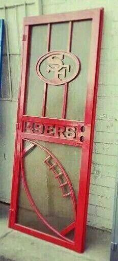 S.F. 49ers Screen Door