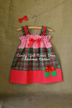 Candy Girl Tiered Dress   Sizes 0-3 m to Size 8  -- I like the gathered top and pocket.  Saw a variation with a pocket on either side