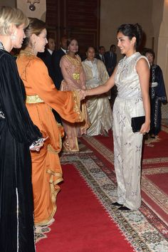 (R) Actress and Jury Member Golshifteh Farahani is greeted by Princess Lalla Meryem of Morocco and Melita Toscan du Plantier as she attends the Royal Gala Dinner during the Marrakech International Film Festival on in Marrakech, Morocco. Iranian Film, Iranian Actors, Iranian Beauty, Beautiful Quran Quotes, Gala Dinner, International Film Festival, Bruce Lee, Royal Fashion, Celebs
