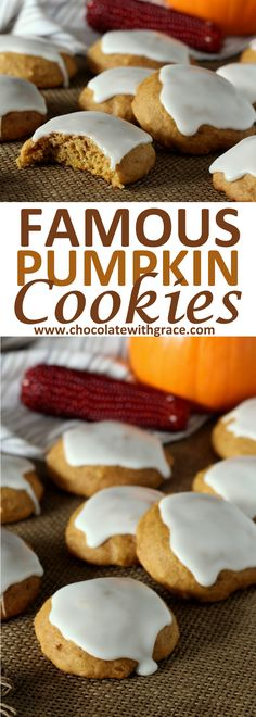 The Famous Soft Glazed Pumpkin Cookies that get compliments wherever I take them. A quick and easy pumpkin cookie recipe.