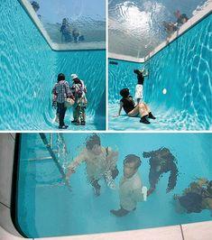 Installation Art | ... -interesting-odd-strange-weird-art-installation-fake-swimming-pool