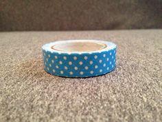 Modelo #Washi tape topos blancos tela azul cinta por YBatchi en Etsy #scrap #masking