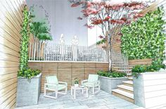 Edmund Hollander Landscape Architect Design P.C. - City Landscapes - Backyard and Roof Garden