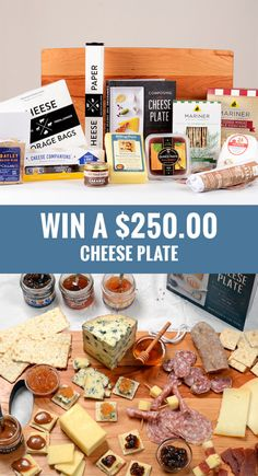 "GET EVERYTHING for your CHEESE PLATE PARTY Giveaway ends 9-18-2017at 11:59 PM http://swee.ps/UrnTibEPj   A 20"" × 12"" × 1"" cherry wood cheese board (J.K. Adams),  3 Vermont award-winning cheeses (Jasper Hill Farm, Billings Farm, Boston Post Dairy), 2 salami (VT99 Meats), 2 crackers (Mariner crackers), 5 cheese accompaniments (Fat Toad Caramel, Vermont Quince, Cheese Companions fruit conserves and honey), cheese paper, bags & log (Formaticum) and the book ""Composing the Cheese Plate""."