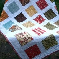 Pinwheel and Prairie Point Baby Quilt by A... | Quilting Ideas