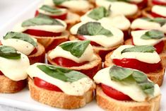 Appetizer - Calabrese crostini with slightly melty buffalo mozzerella! That's going to happen this weekend!