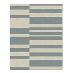 Offset Stripe Wool Dhurrie - Special Order