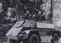 Australian troops in an Indian Pattern Carrier Mk II vehicle in Malaya, 1940-1941