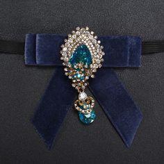 Mantieqingway Royal Blue Crystal Bowtie Bridegroom Wedding Navy Blue Bow Ties with Elegance Crystal Water Drop Best Men Bow Tie #Affiliate