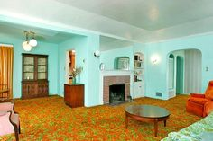 Awesome retro interior!! Love it!!! awesome carpet!!