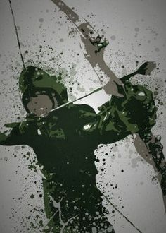 """Arrow"" Splatter effect artwork inspired by The Green Arrow From The Arrow TV series http://tinyw.in/3I6R"