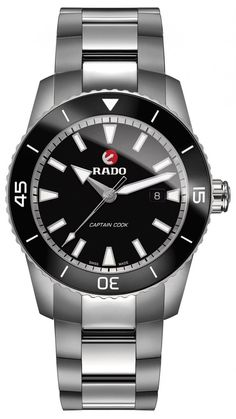 Rado Hyperchrome Captain Cook Bracelet Watch, In Silver/ Black/ Silver Best Watches For Men, Luxury Watches For Men, Cool Watches, Fine Watches, Men's Watches, Trends 2018, Silver Pocket Watch, Look Casual, Omega Seamaster