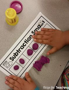 Free Subtraction Smash Mats Students Use Play-Doh To Subtract. Incorporates Three Versions Of The Subtraction Smash Mats To Differentiate Subtraction Kindergarten, Subtraction Activities, Preschool Math, Teaching Kindergarten, Math Classroom, Numeracy, Math Activities, Subitizing, Subtraction Strategies