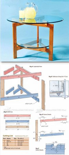 Glass Top Table Plans - Furniture Plans and Projects   WoodArchivist.com