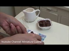 Miniature Food Cooking: MiniFood Brownies Nutella (kids toys channel cooking) (tiny edible food) - YouTube