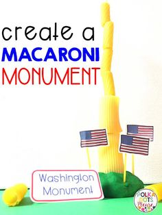 This STEM hands-on activity for President's Day is a fun way to learn about George Washington School Age Activities, Steam Activities, Hands On Activities, Science Activities, Preschool Lessons, Kindergarten Stem, Kindergarten Social Studies, Social Studies Activities, American Symbols
