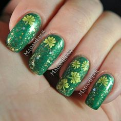 St. Patty's nails! MadamLuck on Instagram