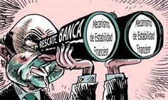 'Guindaletas' esperando el rescate de la banca #crisis #humor #nosrobanlacartera