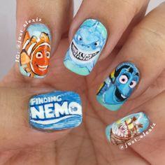 just_alexiz Finding Nemo #nail #nails #nailart