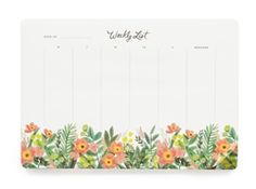 New for Summer 2015, the Rifle Paper Co. Honeydew Weekly Deskpads designed by Anna Bond.  Available to pre-order now at Northlight Homestore