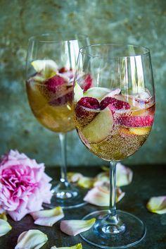 White Peach Rose and Raspberry Sangria