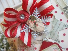 red, cream & silver vintage sweetness gift wrap