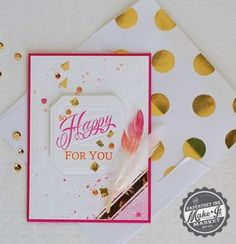 Happy For You Card by Betsy Veldman for Papertrey Ink (February 2014)