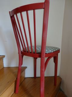 Baumann chair paint in shiny red.