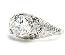 Breathless: Edwardian E Color Diamond Ring