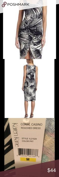 NWT - Karen Kane dress Brand New with tag, Karen Kane dress.  Will be perfect for Easter, Mothers Day, Graduation day , a night in the town. Black and white (not Snow White but an egg shell white. For sizing information please refer to the Karen Kane size chart included with the pictures. Karen Kane Dresses