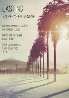 """Casting en Gáldar para la película """"Palmeras en la nieve""""."""