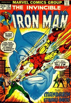 """While we're waiting for """"Iron Man 3"""": The Mandarin """"rings"""" Shellhead's neck after his latest attempt to sabotage Stark's plant - disguised as a union rabble-rouser - fails after his lame disguise of """"Gene Kahn"""" is exposed (get it: it's an Americanization of Genghis Khan). There'll be no wrath of Khan on Stark's watch!"""