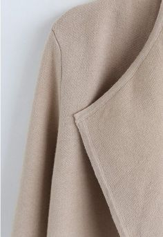 Classy Open Front Knit Coat in Light Tan - Retro, Indie and Unique Fashion Knitted Coat, Knitted Fabric, Unique Fashion, Best Front Door Colors, Indie, Thick Sweaters, Retro, Shoulder Sleeve, Knit Dress