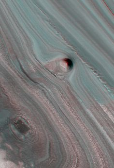 Layered Deposits Near the North Pole of Mars (3D) NASA/JPL/ University of Arizona
