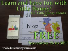 Little Bunny series Free Printable Worksheets, Preschool Worksheets, Free Printables, Teaching Abcs, Free Kids Books, Bunny Book, Adorable Bunnies, Love Parents, Reading Worksheets