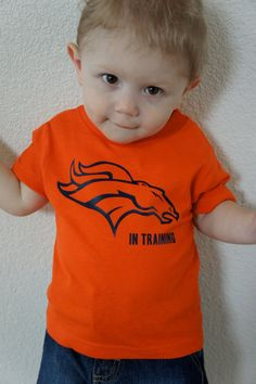 Toddler Denver Broncos shirt Bronco in training size by nlcorder, 16.99