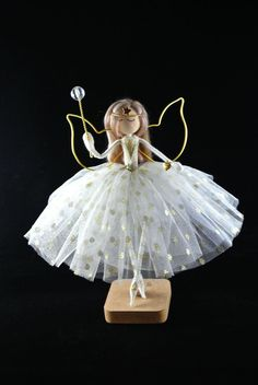 Gold Tie, Fairy Tree, Beaded Top, Christmas Tree Toppers, Beaded Flowers, Crystal Beads, Art Dolls, Daisy, Angels