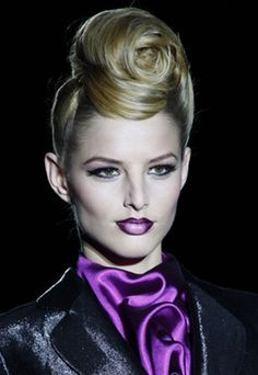runway hair/makeup