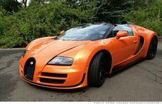 A orange Bugatti!!!!! I want one so bad!!!