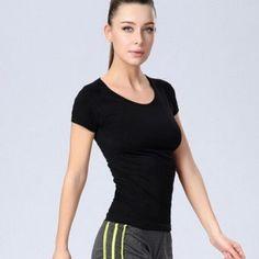 Yoga Short Sleeve Professional Sports Fitness T-shirt