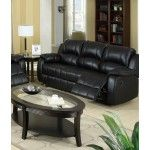 Poundex Furniture - Black Padded Leatherette Sofa - F7046  SPECIAL PRICE: $679.00