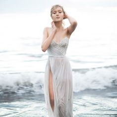 #PaoloSebastian #weddingdress (Instagram: theweddingscoop) // The Call of the Sea: Paolo Sebastian's Spring/Summer 2014-15 Collection