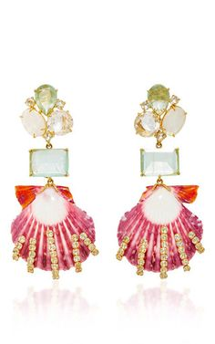 Convertible sea shell earrings by BOUNKIT for Preorder on Moda Operandi