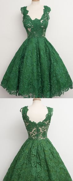 Short Prom Dresses, Lace Prom Dresses, Green Prom Dresses, Prom Dresses Short, Discount Prom Dresses, Lace Homecoming Dresses, Homecoming Dresses Short, Short Homecoming Dresses, Green Lace dresses, Zipper Homecoming Dresses, Scalloped Prom Dresses