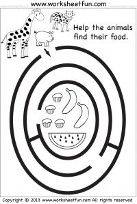 Preschool and Kindergarten Mazes - FREE Printable Worksheets.