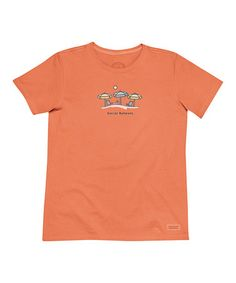 Look what I found on #zulily! Vibrant Orange 'Social Network' Crusher Tee by Life is good® #zulilyfinds