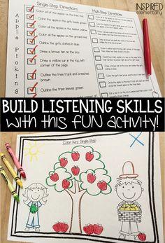 Free Listening Skills Activity