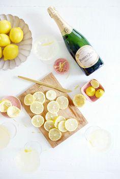 Champagne Lemon Drop Cocktail