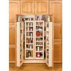 Buy the Rev-A-Shelf Natural Wood Direct. Shop for the Rev-A-Shelf Natural Wood Series Tall Swing Out Pantry Cabinet Organizer Set with Hardware and save. Tall Kitchen Cabinets, Kitchen Pantry, Kitchen And Bath, New Kitchen, Pantry Cabinets, Smart Kitchen, Wall Cabinets, Upper Cabinets, Kitchen Small